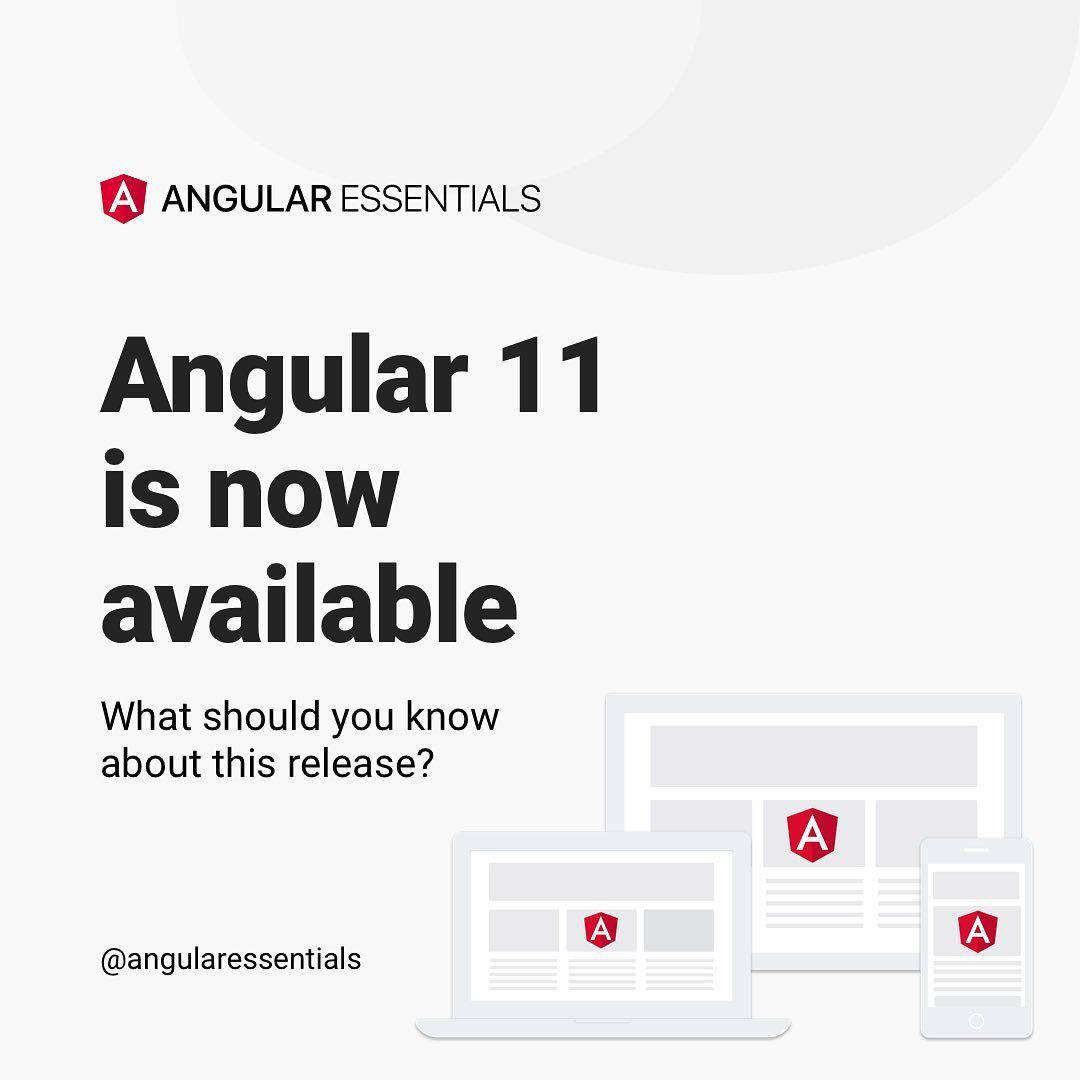 Angular 11 is now available