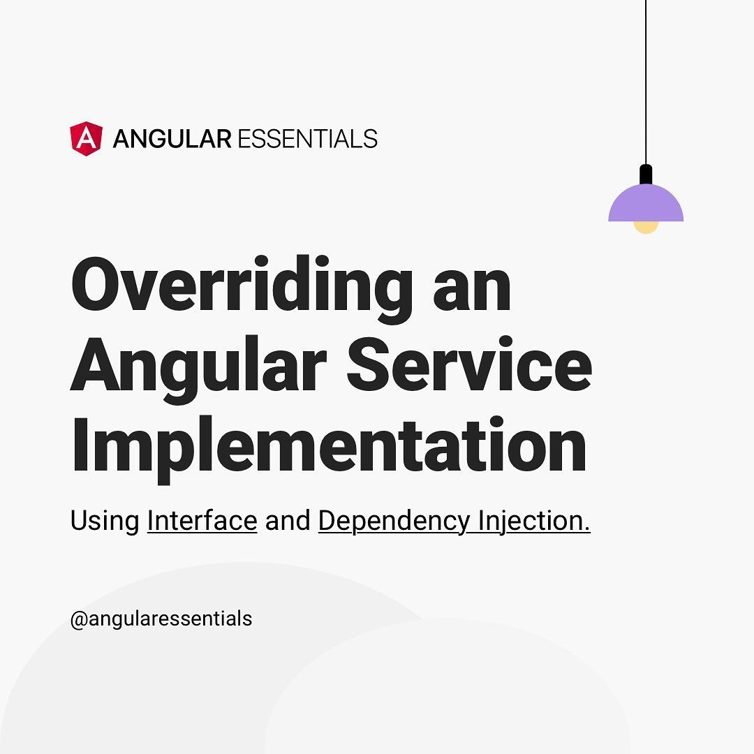 Overriding an angular services implementation