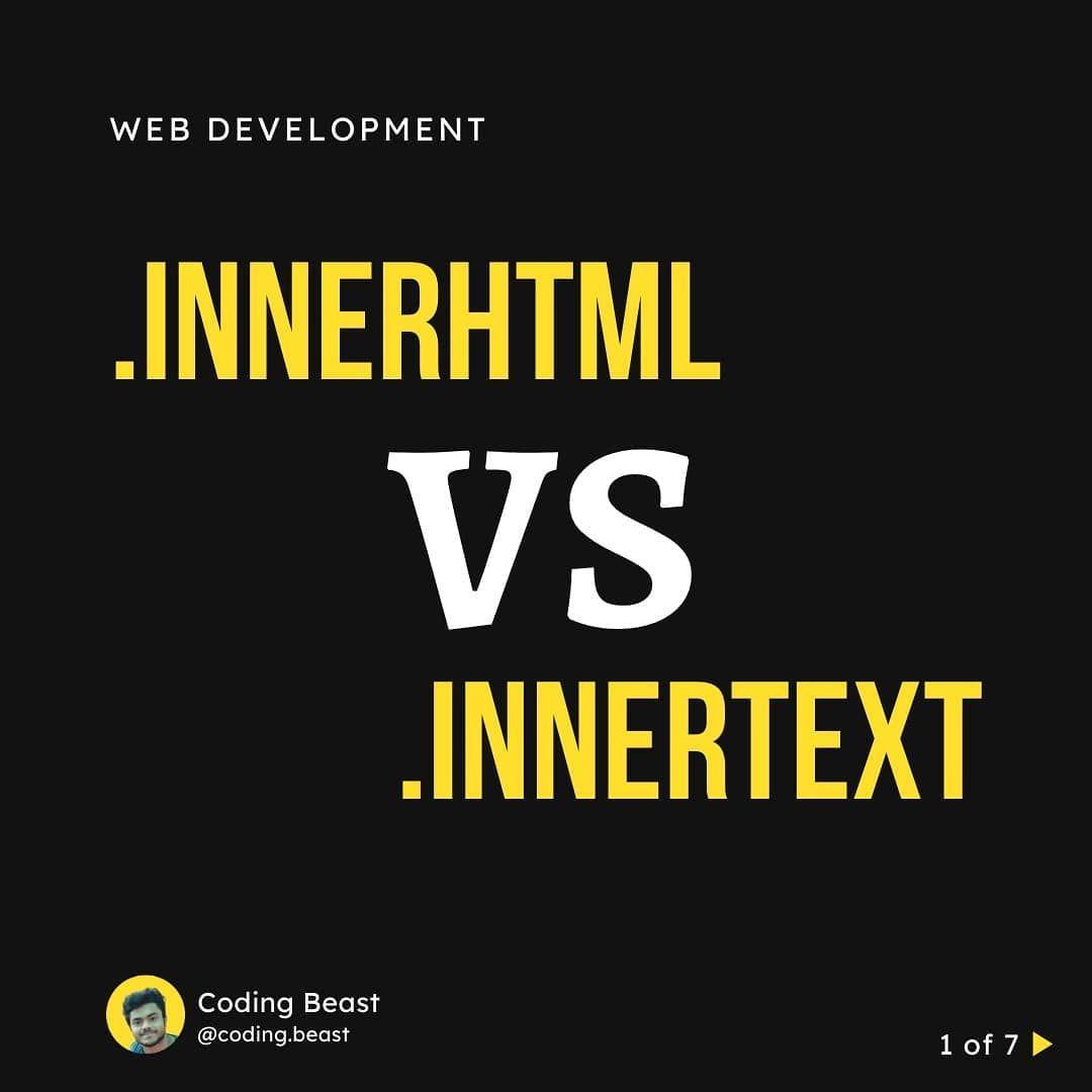 Innerhtml vs innertext