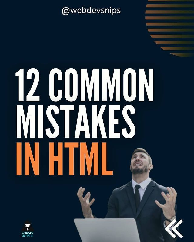 12 common mistakes in html
