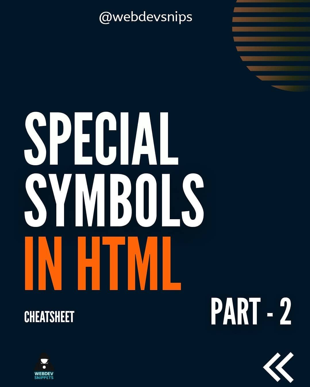 Special symbol in html part 2
