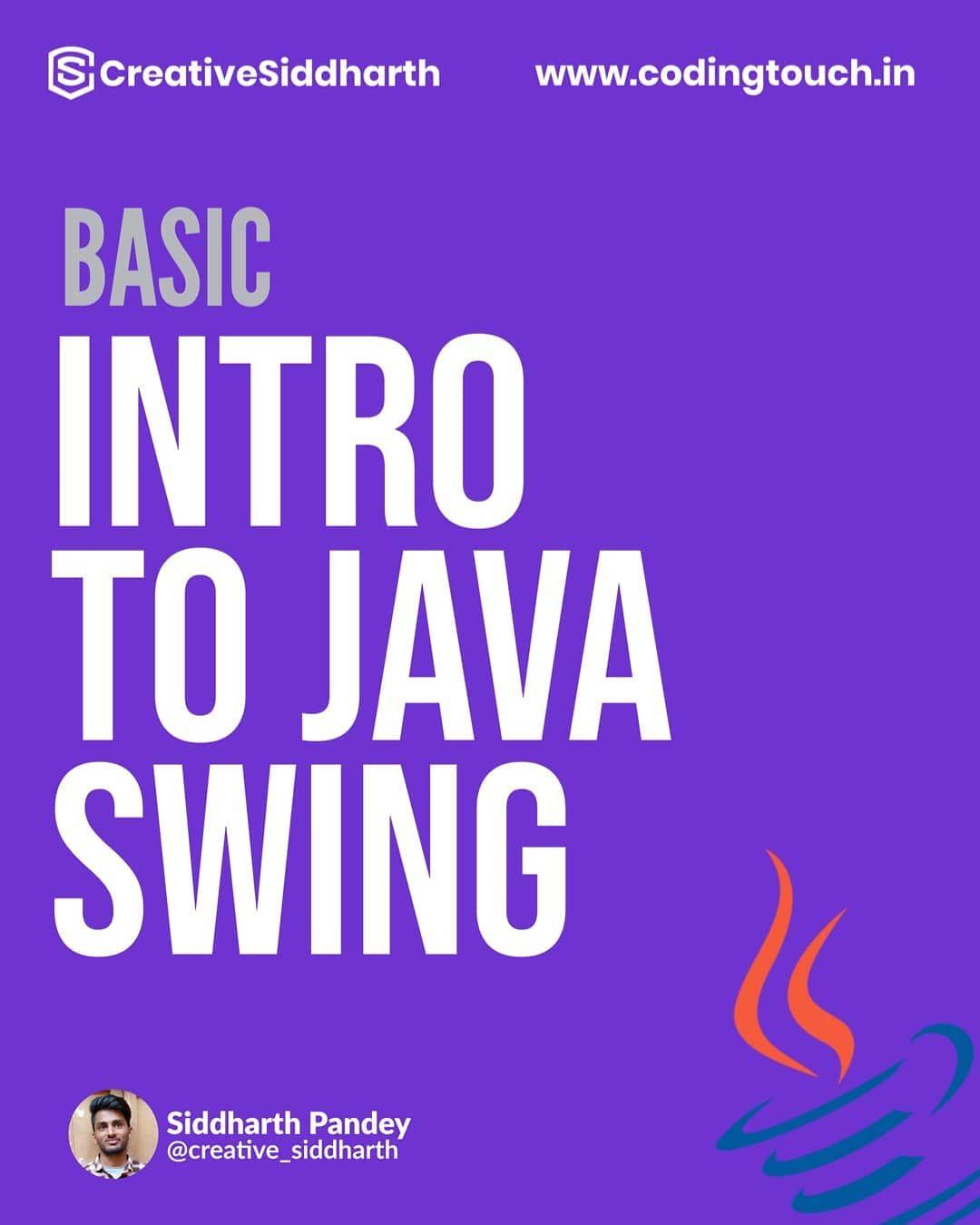 Basic intro to java swing