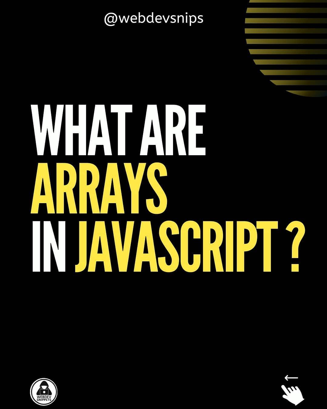 What are arrays in javascript