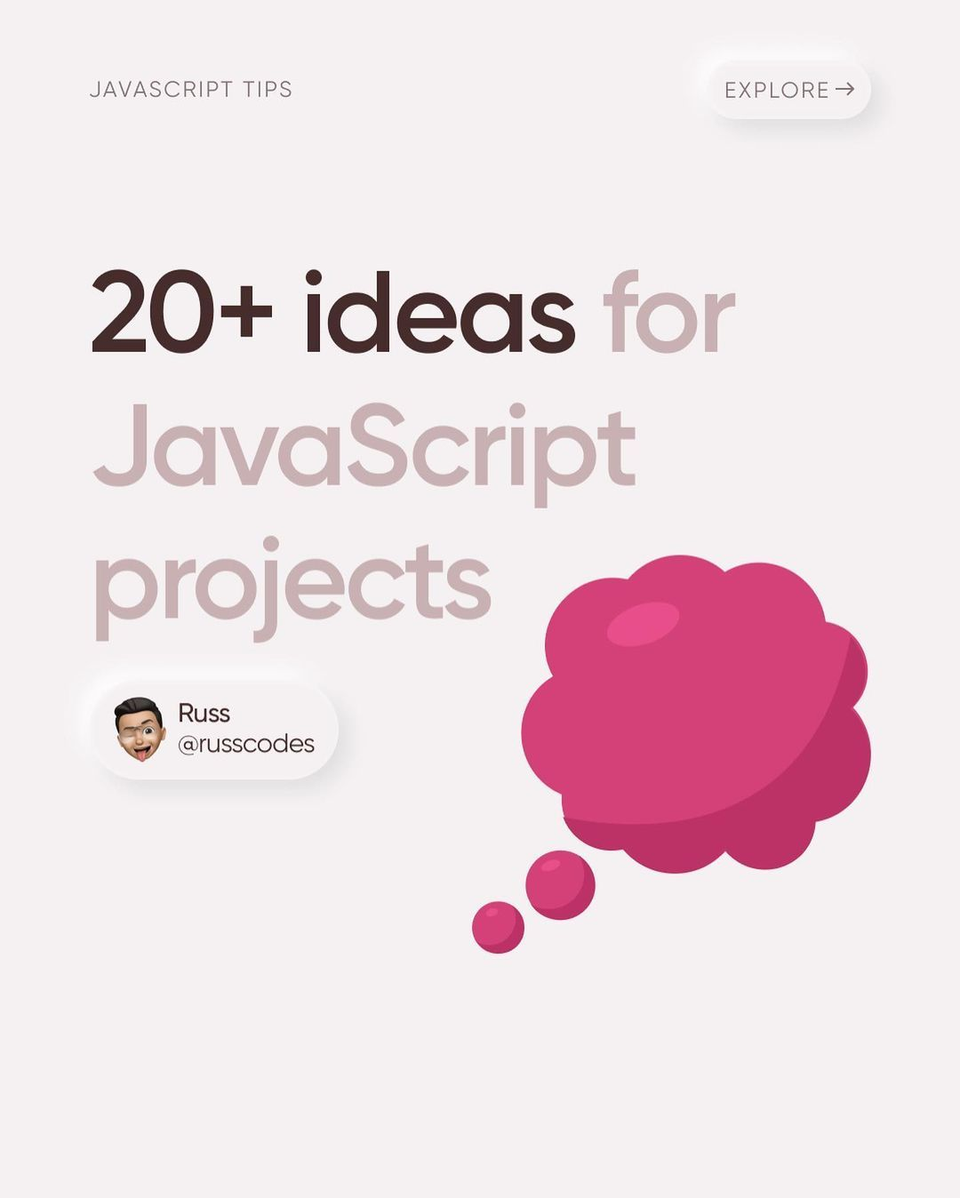 20 ideas for javascript projects