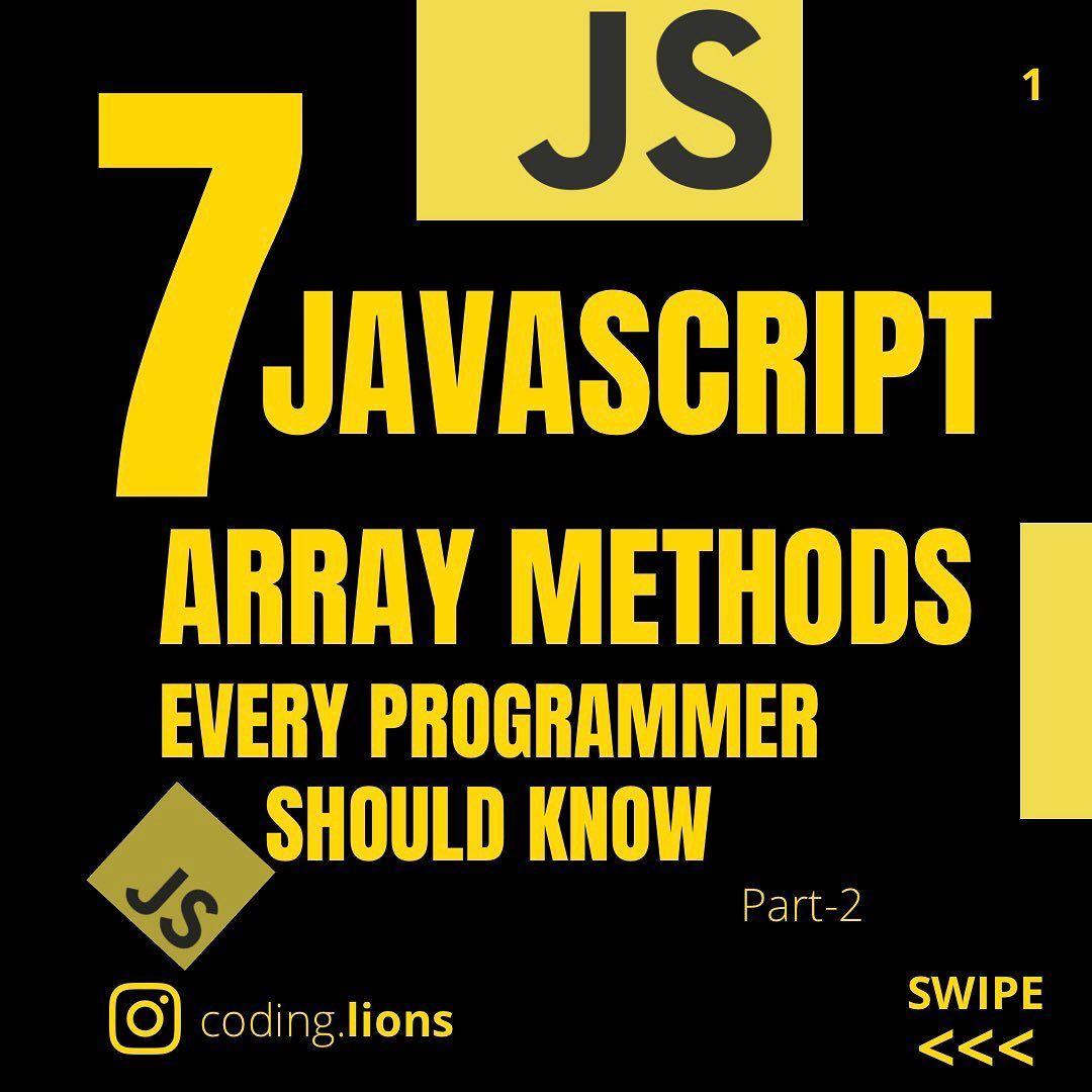7 javascript array methods