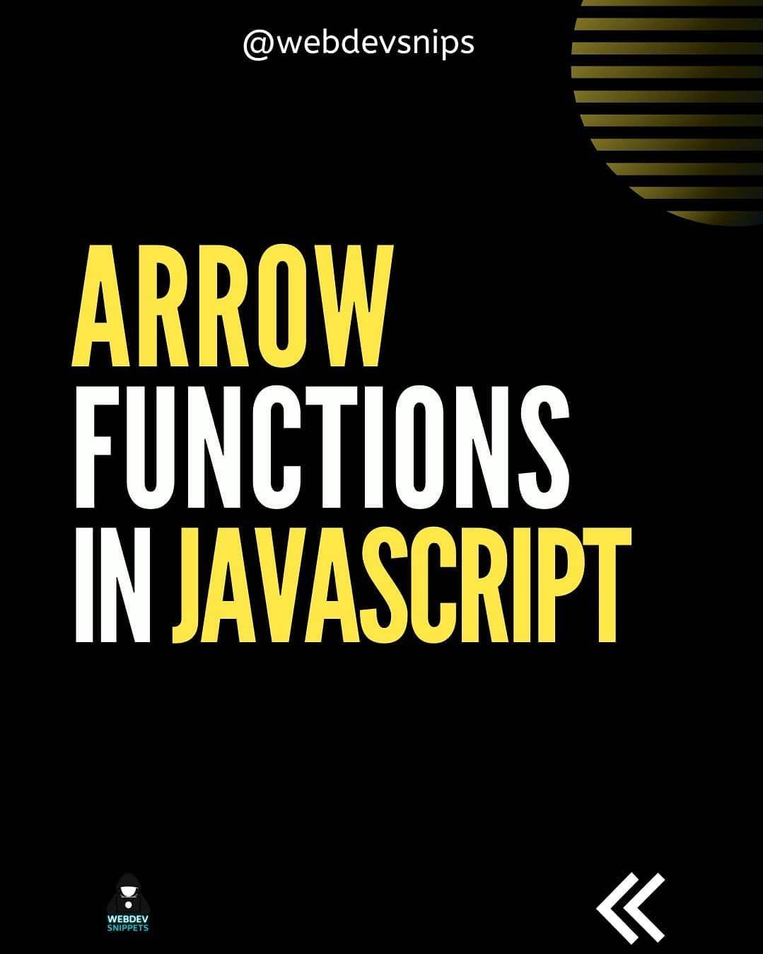 Arrow functions in javascript