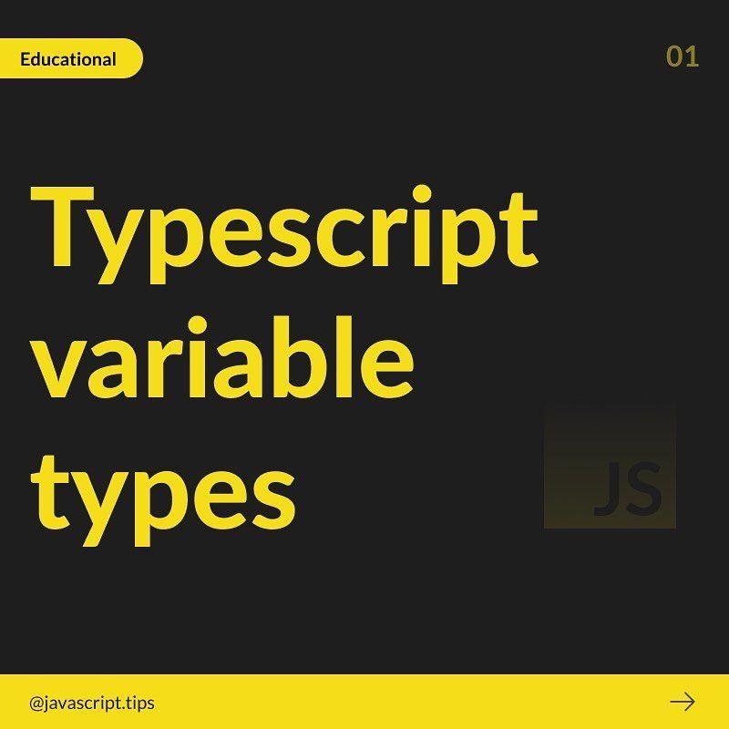 Typescript variable types