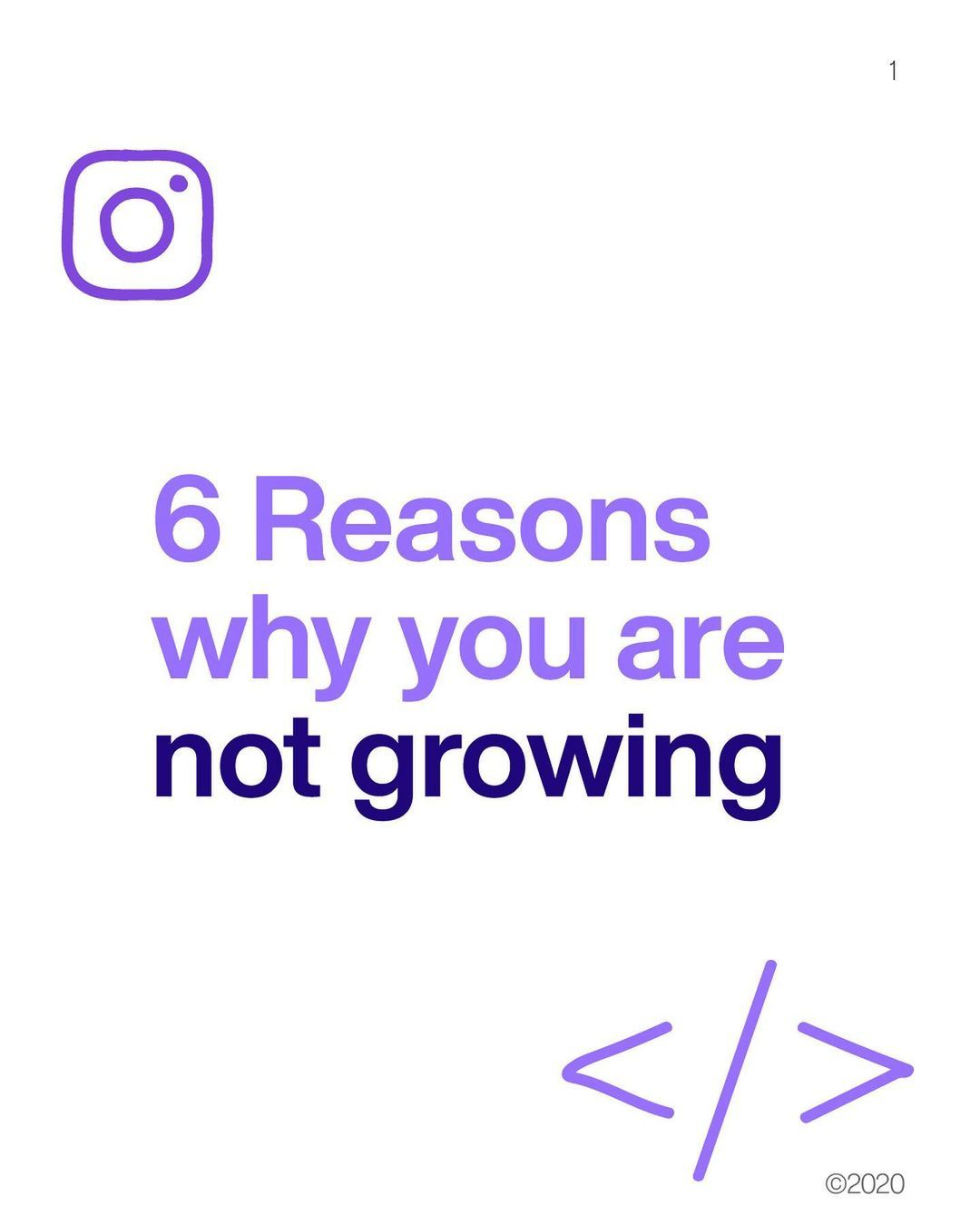 6 reasons why you are not growing