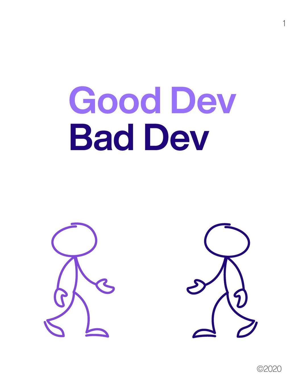 Good dev bad dev