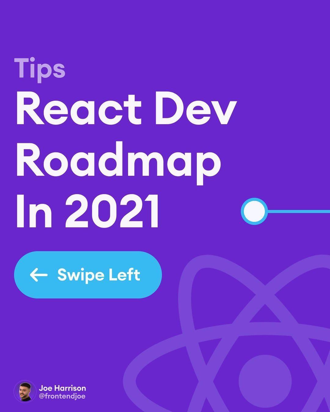 React dev roadmap in 2021