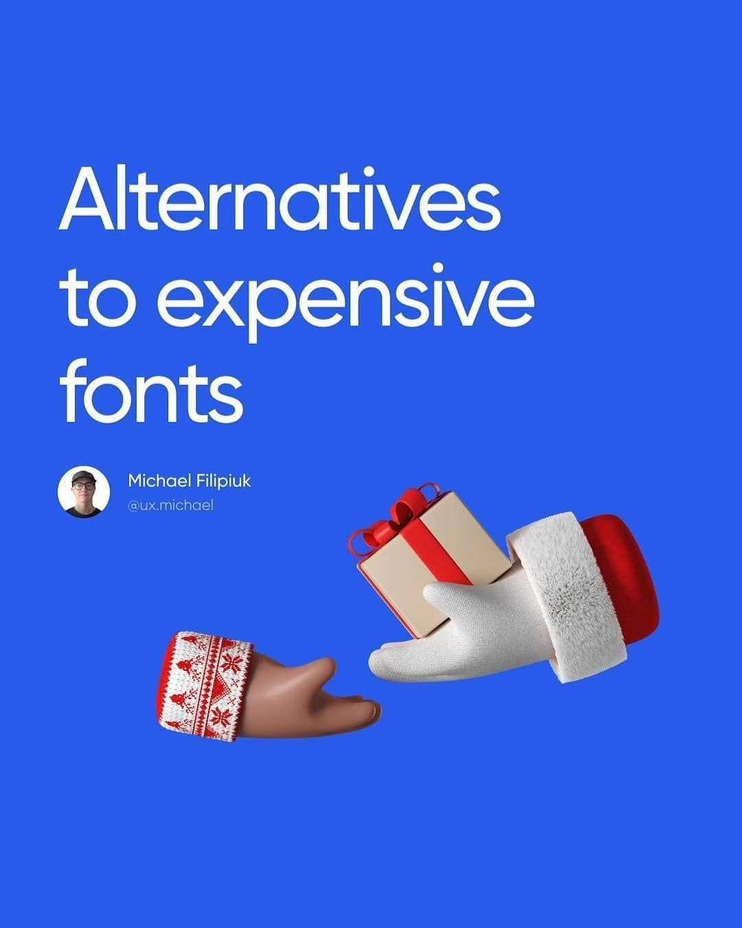 Alternatives to expensive fonts