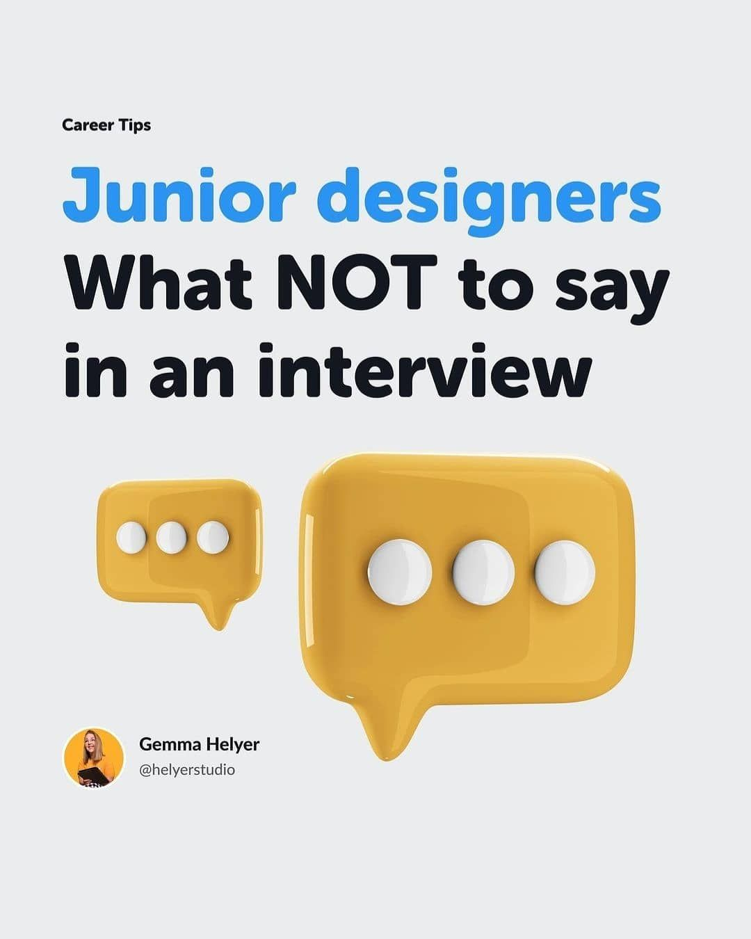 Junior designer what not to say in an interview