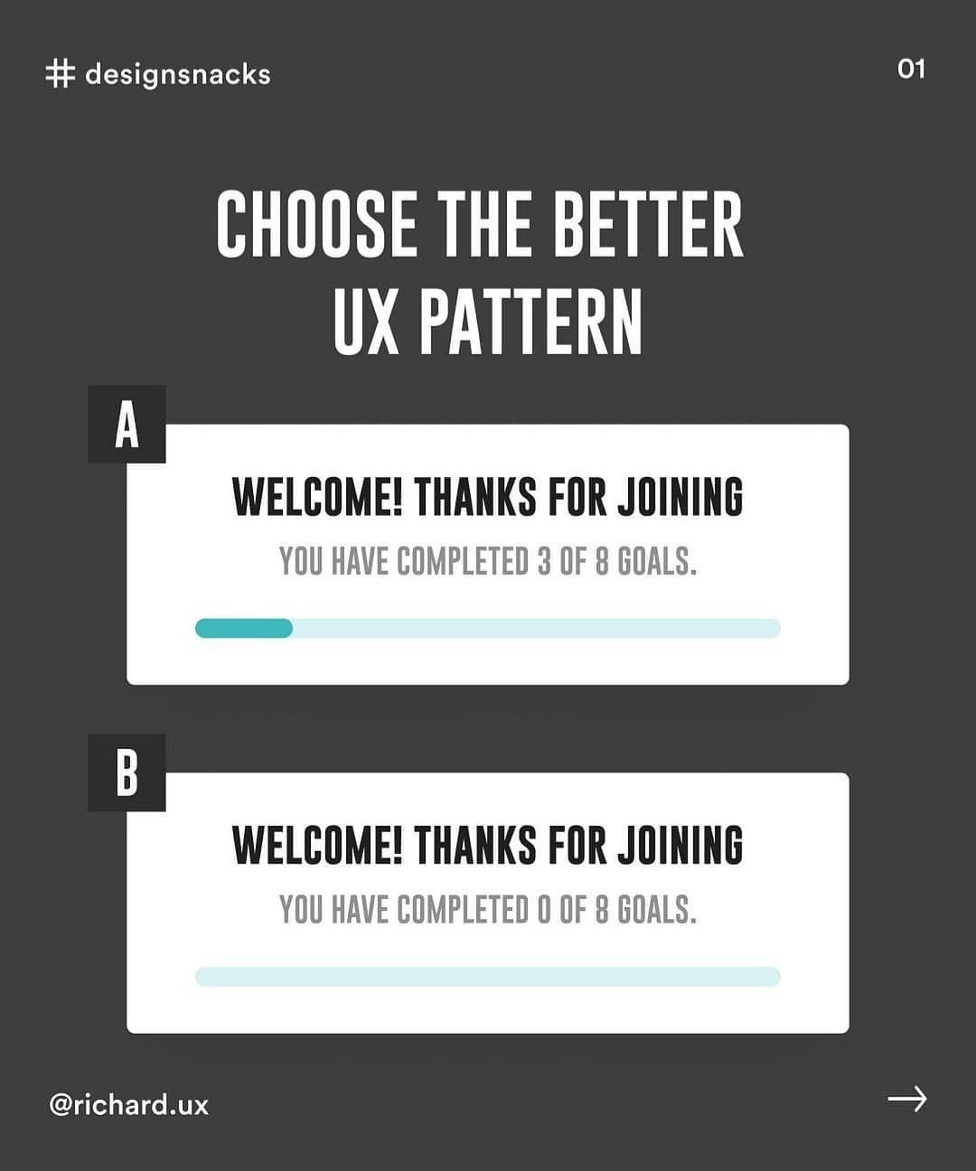 Choose the better ux pattern
