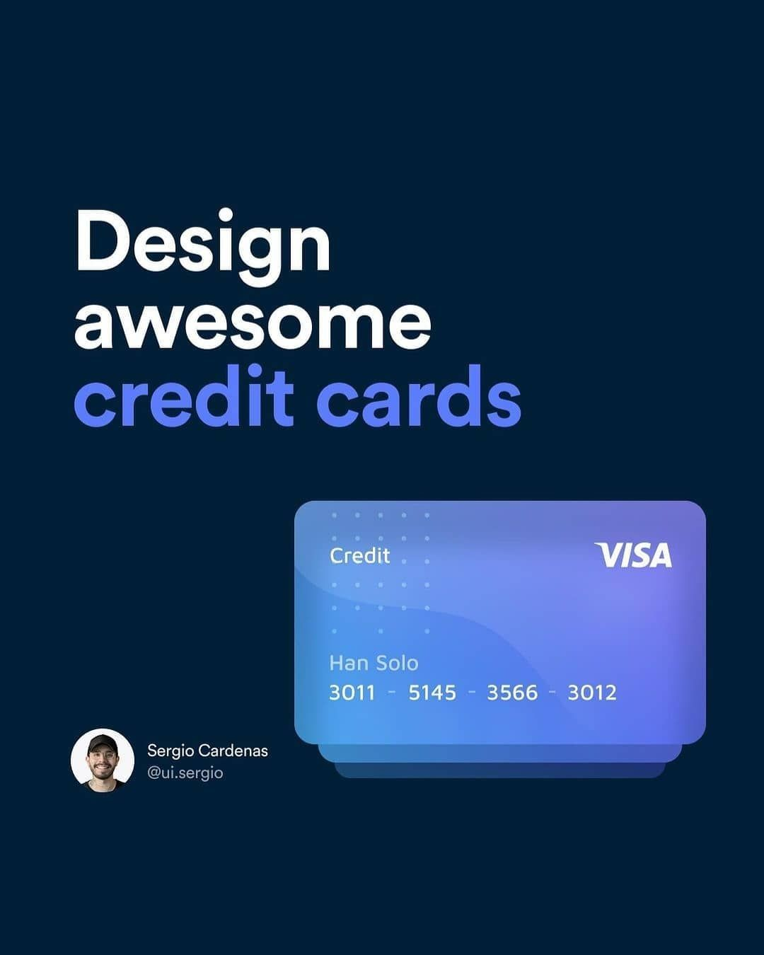 Design awesome credit cards