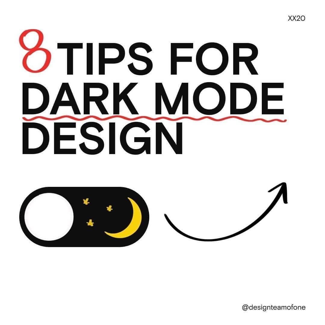 8 tips for dark mode design
