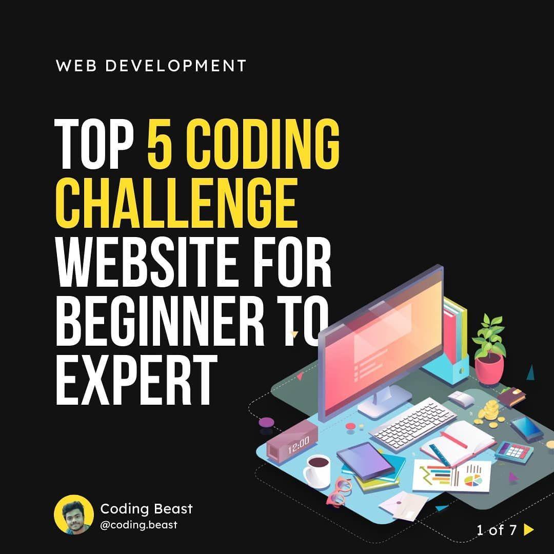 Top 5 coding challenge website for beginner to expert
