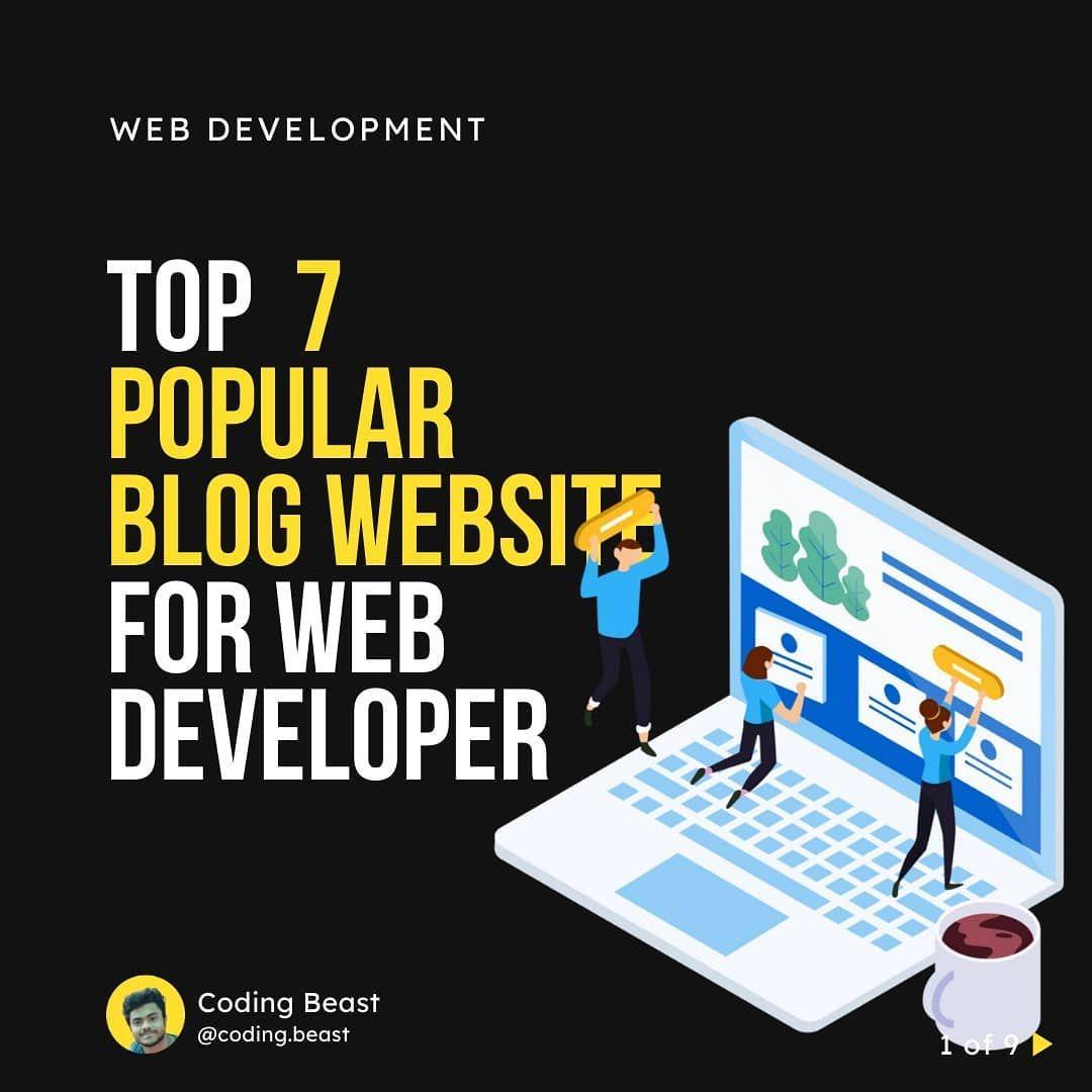 Top 7 popular blog website for web developer